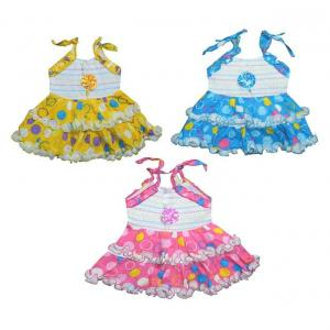 Jbn Creation Multicolor Cotton Frocks - Pack Of 3
