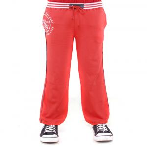 Menthol Red Trackpants For Boys