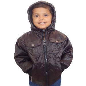 Ad & Av Brown Synthetic Jacket With Hood