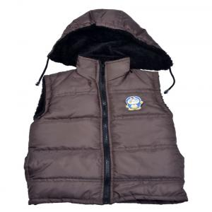 New Fashion Brown Acrylic Casual Jacket With Hood