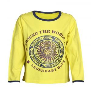 Ello Full Sleeve Yellow Color Round Neck T-Shirts For Kids