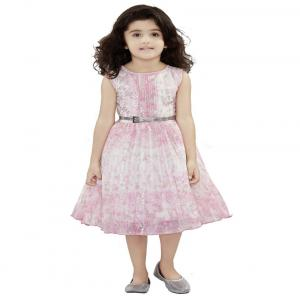 Be:kids Pink And White Georgette Dresses