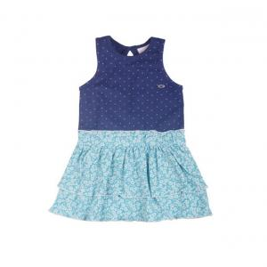 FS Mini Club Sleeveless Blue Color Dot Printed Top For Kids