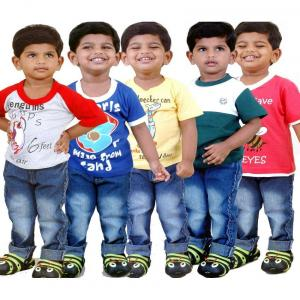 Goodway Pack of 5 Multi Colors Did You Know Printed T-Shirts For Kids