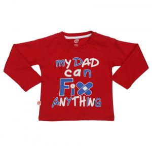 Baby Leauge Red Round Neck T Shirt