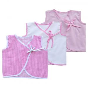 Babeez Pink Sleeveless Tops For New Born Baby - Pack Of 3