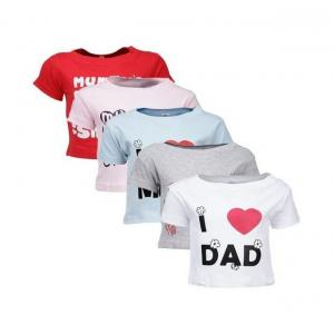 Goodway Mom & Dad Themed Pack of 5 T-Shirts For Infants