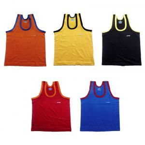 Afro Multicolour Cotton Vest - Pack Of 5