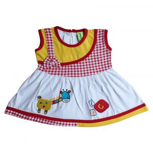 Little Life Red Cotton Frock