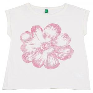 Ucb Cap Sleeve Off White Solid T-shirt For Kids