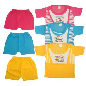 Zion Baby Cotton Blend Tops & Bottoms Set Pack Of 3