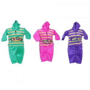 Tiny Toons Multicolour Woolen Knit Sweater Suit - Pack Of 3