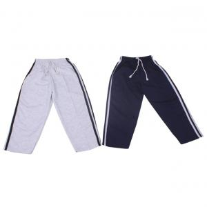 Weecare Black & White Cotton 3 Patti Trackpants Pack Of 2