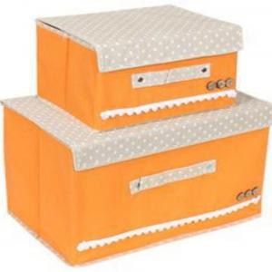 Mangalam Foldable Storage Boxes With Lid - Set Of 5
