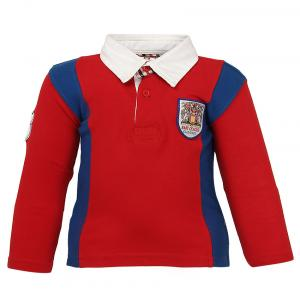 Baby League Red Polo Neck T Shirt