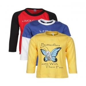 Goodway Junior Boys DYK-1- Red,Royal,Yellow Combo Pack of 3 T-Shirts