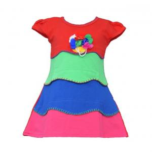 JAZZUP-Cotton Red Frock
