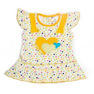Little Life Baby Frock 100% Cotton (lemmon) (dn-169) (size: 18)