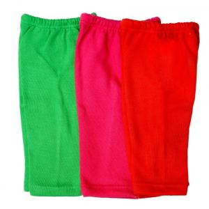 Shaun Set Of 3 Woolen Leggings - Red, Pink And Green