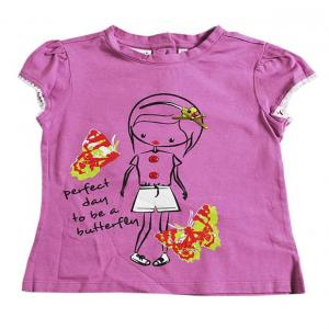 Nauti Nati Girl And Butterfly Graphic Purple Color Top For Kids
