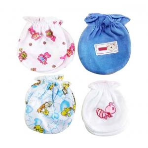 Tag Products Cute Multicolour Cotton Mittens For Kids - Set Of 4
