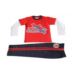 Eteenz Red & Navy Blue Spiderman Boys Night Suit