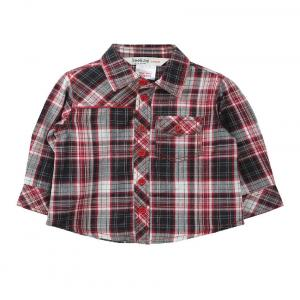 Beebay Red Color Yarn Dyed Checks Shirt For Kids