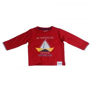 Fs Mini Klub Long Sleeves Red Color Round Neck T-Shirts For Kids