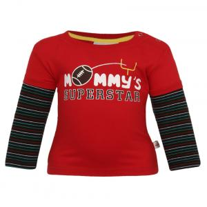 Baby League Red Round Neck T Shirt