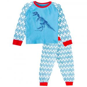 Snuggles Blue & Red Dino Print Night Suit Set