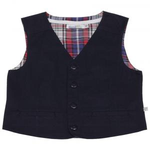 Shoppertree Navy Blue Solid Jacket For Boys