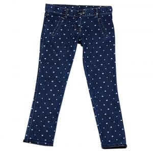 Ucb Blue Printed Trousers For Kids