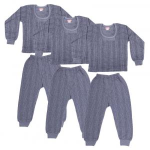 Zimfit Grey Cotton Blended Thermal - Set Of 3