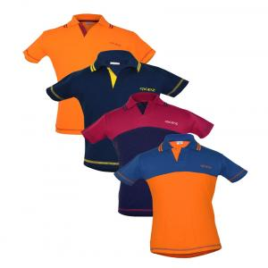 Goodway Multicolour Cotton Half Sleeves Polo T-shirt - Pack Of 4