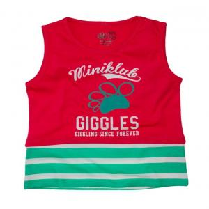 FS Mini Klub Sleeveless Coral Giggles Top For Kids