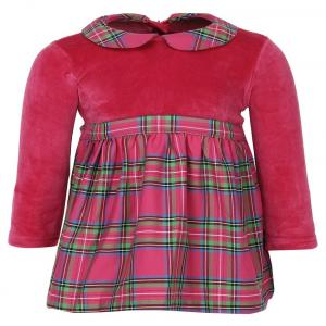 Baby League Pink Full Sleeves Dresses