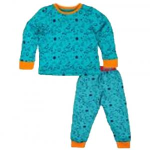 Snuggles Blue & Orange Cotton Night Suit