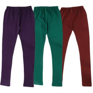 RHAM GOLD Pack of 3 Green,Purple & Brown Color Leggings for Babies