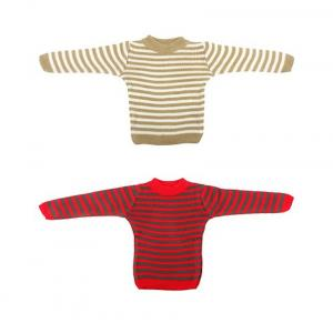 Knitco Red & Cream Full Sleeves Woolen Sweater - Pack Of 2