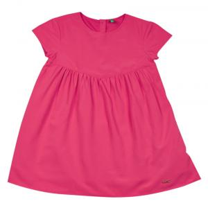 Ucb Cap Sleeve Hot Pink Solid Dress For Kids