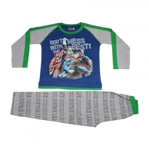 Eteenz Blue & Grey Justice League Boys Night Suit