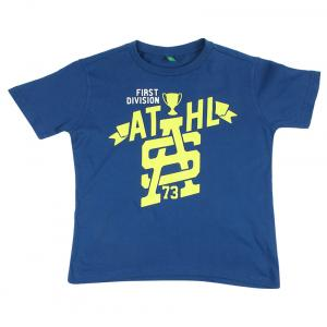United Colors Of Benetton Blue Printed Round Neck T-shirt