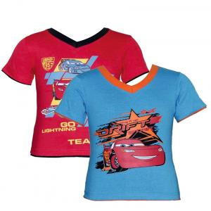 Cars Turquoise & Red T-shirts (set Of 2)