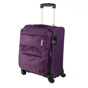 American Tourister Velocity Spinner 90X050102 Purple 4 Wheel Trolley