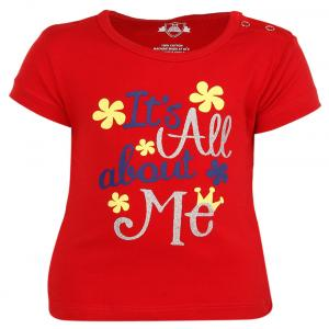 Baby League Red Crew Neck Tops