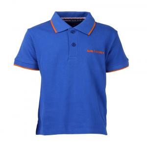 Bells And Whistles Blue Solid Pique Polo
