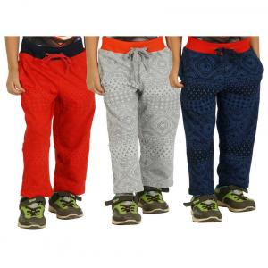 Shaun Multi Colors Pack Of 3 Track Pants For Kids
