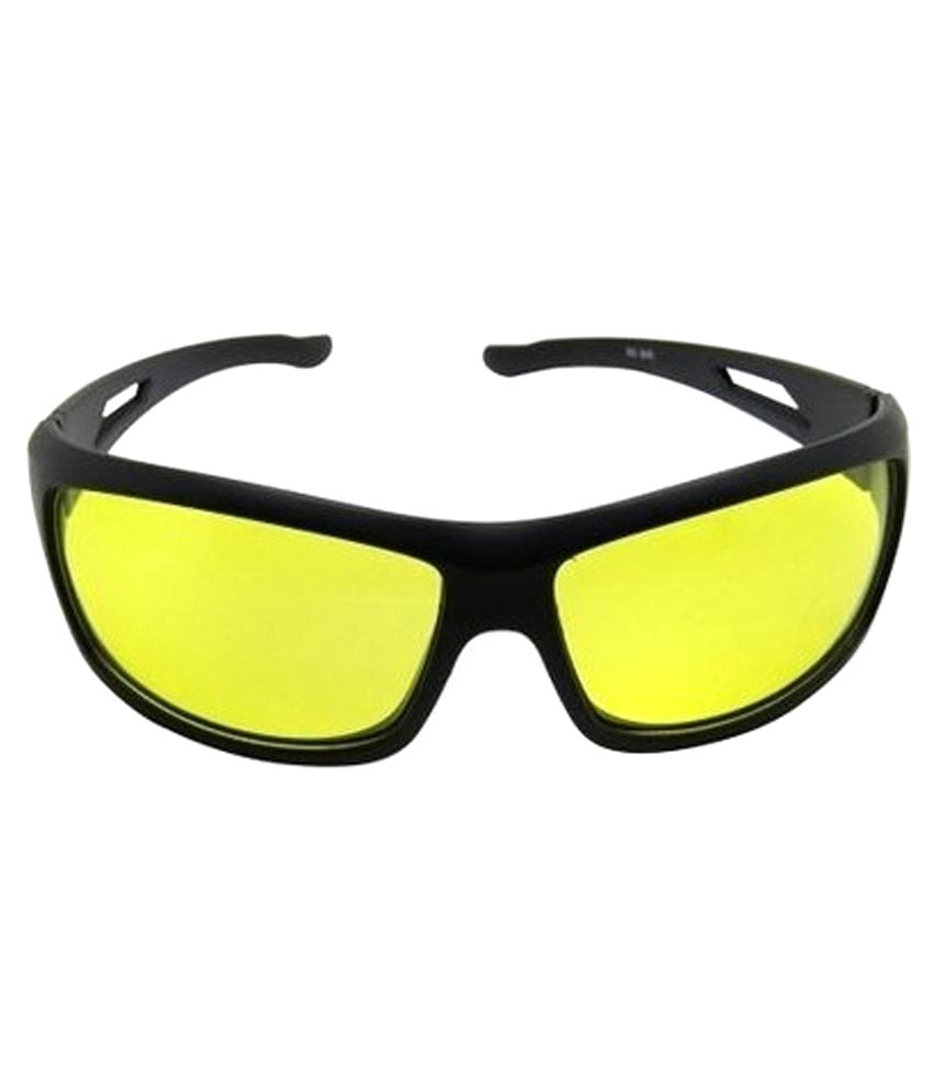 Night Vision Nv01 Black & Yellow Sunglasses For Men