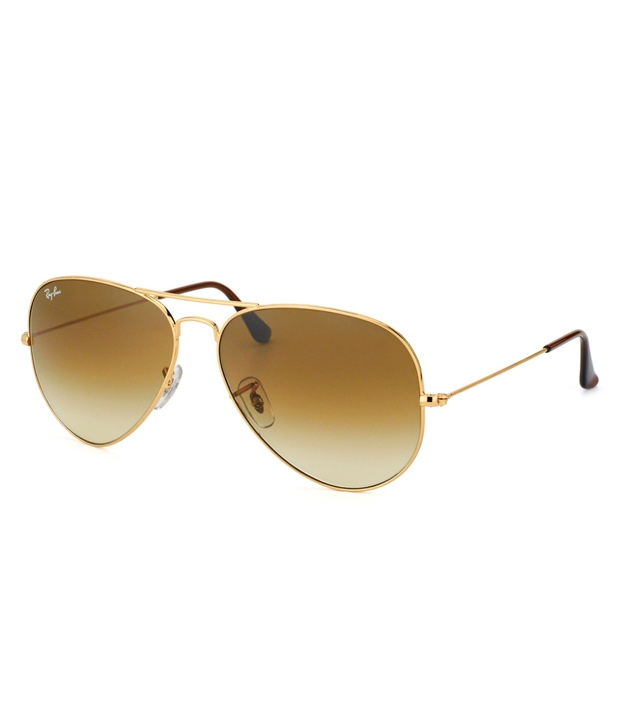 Ray-Ban Rb3025001-51 58-14-135 Gold Frame Aviator Sunglasses