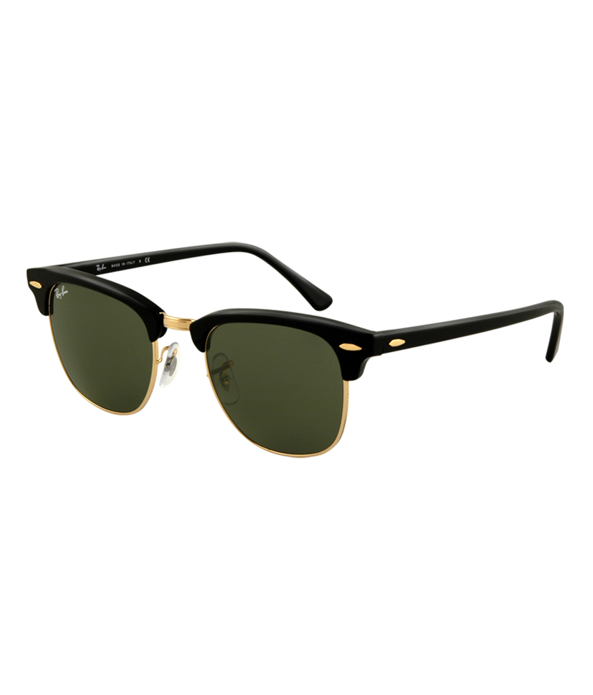 Ray-Ban RB3016 W0365 Clubmaster Arista Green Sunglasse